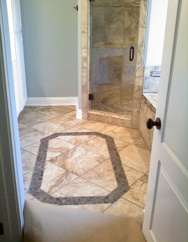 Bathroom floor by Sam Riddle Flooring